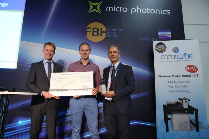 Sicoya won the European Photonics Start-up challenge at Micro Photonics
