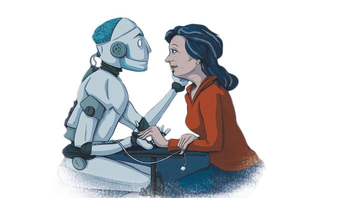 Roboter Pepper des Adlershofer Healthtech-Unternehmens Bos&S soll Pflegekräfte unterstützen