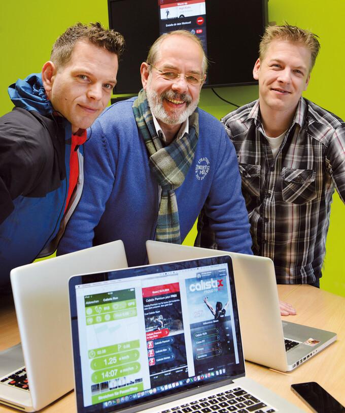 Drei Männer und ihre Fitness-App Calistix II