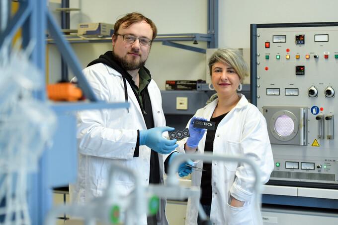 Breakthrough process for metallic coatings