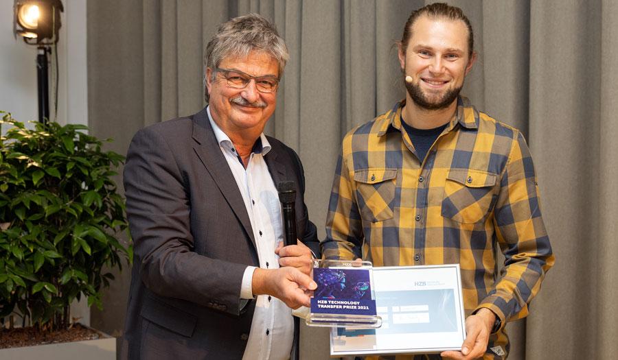 Tobias Henschel, Gewinner des HZB Technologietransferpreises 2021 © HZB / M. Setzpfand