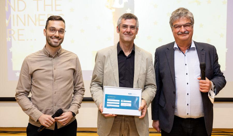 Gewinner des Peter Wohlfart-Preises: Lukas Kegelmann und Thomas Unold, © HZB / M. Setzpfand