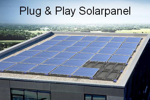 photovoltaik plug play system f r flachd cher. Black Bedroom Furniture Sets. Home Design Ideas