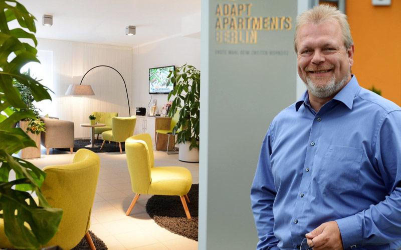 """""""Hotelmanager"""" Ralf Krause ist gern sein eigener Gast. Drei bis vier Tage die Woche wohnt er in Adlershof., Bild: © Adlershof Special"""