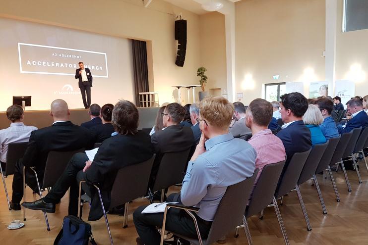 Abschlussveranstaltung des A² Accelerator Smart Energy 2017 in Adlershof. Bild: © WISTA