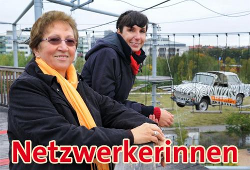 Márta Gutsche und Nora Schweiger (v. l. n. r.); Bild: © Adlershof Journal