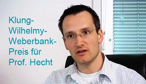 Prof. Stefan Hecht, Träger des Klung-Wilhelmy-Weberbank-Preises 2010, Bild: © HU Berlin