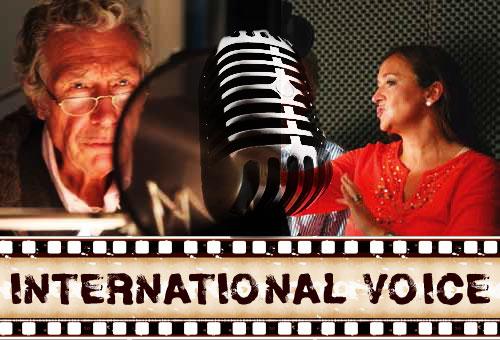 Links: Synchronsprecher Christian Rode bei International Voice; Rechts: Schauspielerin und Sprecherin Carmen Molinar