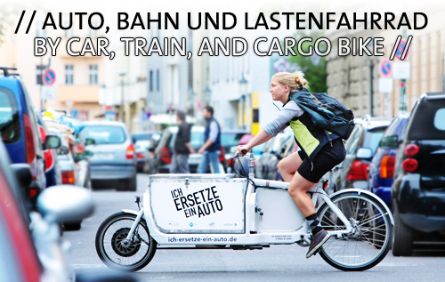 By car, train, and cargo bike