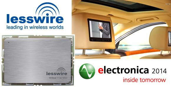 lesswire präsentiert neues Transceiver Modul auf der Messe electronica