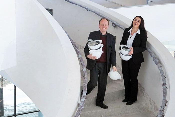 Kezban Saritas und Bernd Ludwig freuen sich auf neue Mieter. Bild: Adlershof Special