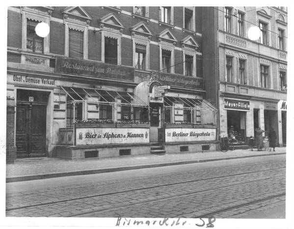 Ratskeller Adlershof © Bauaktenarchiv, BA Treptow-Köpenick